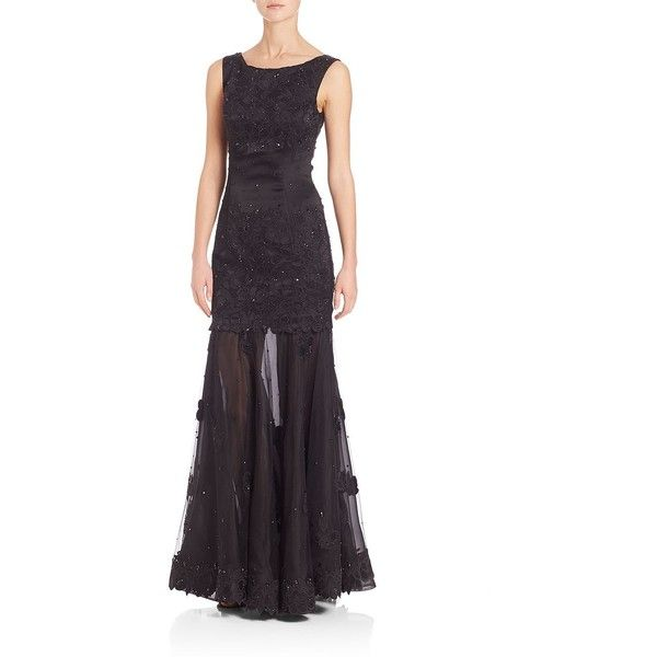 St. John Hand-Beaded Liquid Satin Embroidered Gown ($1,838