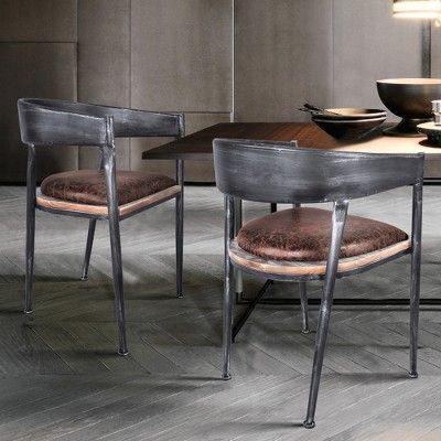 Set Of 2 Asyut Modern Dining Chair Pine Modern Home Dining Chairs Modern Dining Chairs Woven Dining Chairs