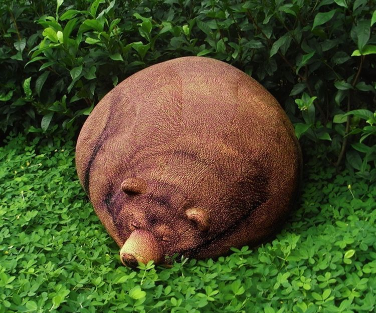 Big Sleeping Grizzly Bear Bean Bag Pic On Design You Trust