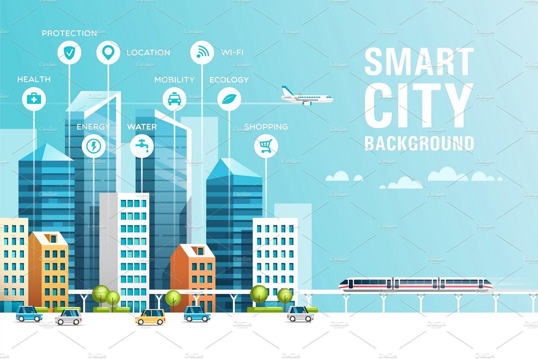 Smart City Grafis Lukisan
