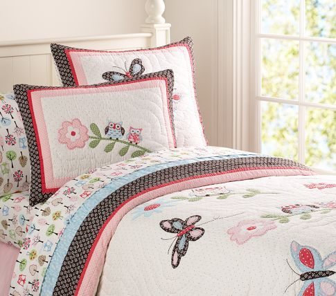 Woodlands Sheeting Pottery Barn Kids Quilt Bedding Pottery