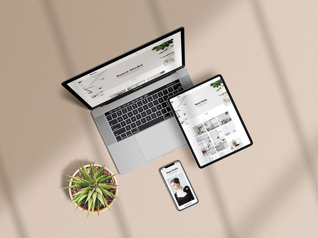 Apple Devices Showcase Mockup This Mockup Scene Shows An Iphone Ipad And A Macbook From Above Just Place Your Artw Free Mockup Iphone Mockup Mockup Free Psd
