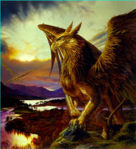 Pin by esther on ideas for mythical creatures in 2019 fairytale creatures fantasy creatures - A picture of a griffin the creature ...