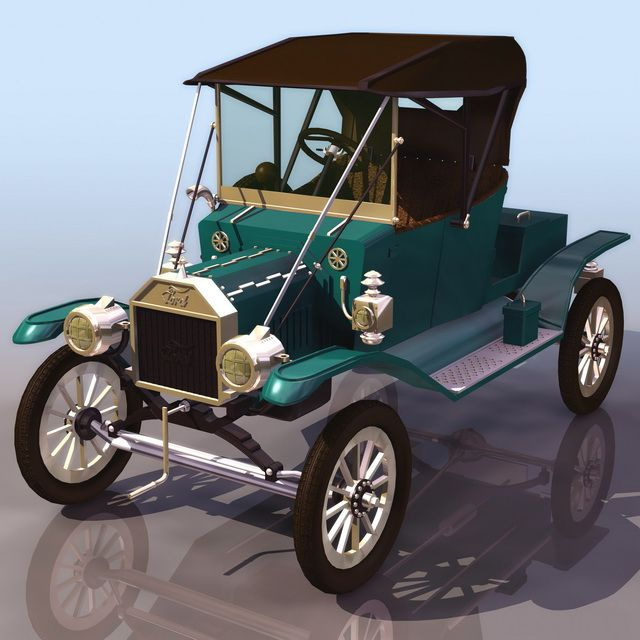 3d Car Model Ford Model T Automobile Available In 3ds Jpg