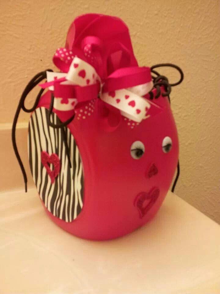 Juice Jug Valentines Card Holder  School Projects  Pinterest