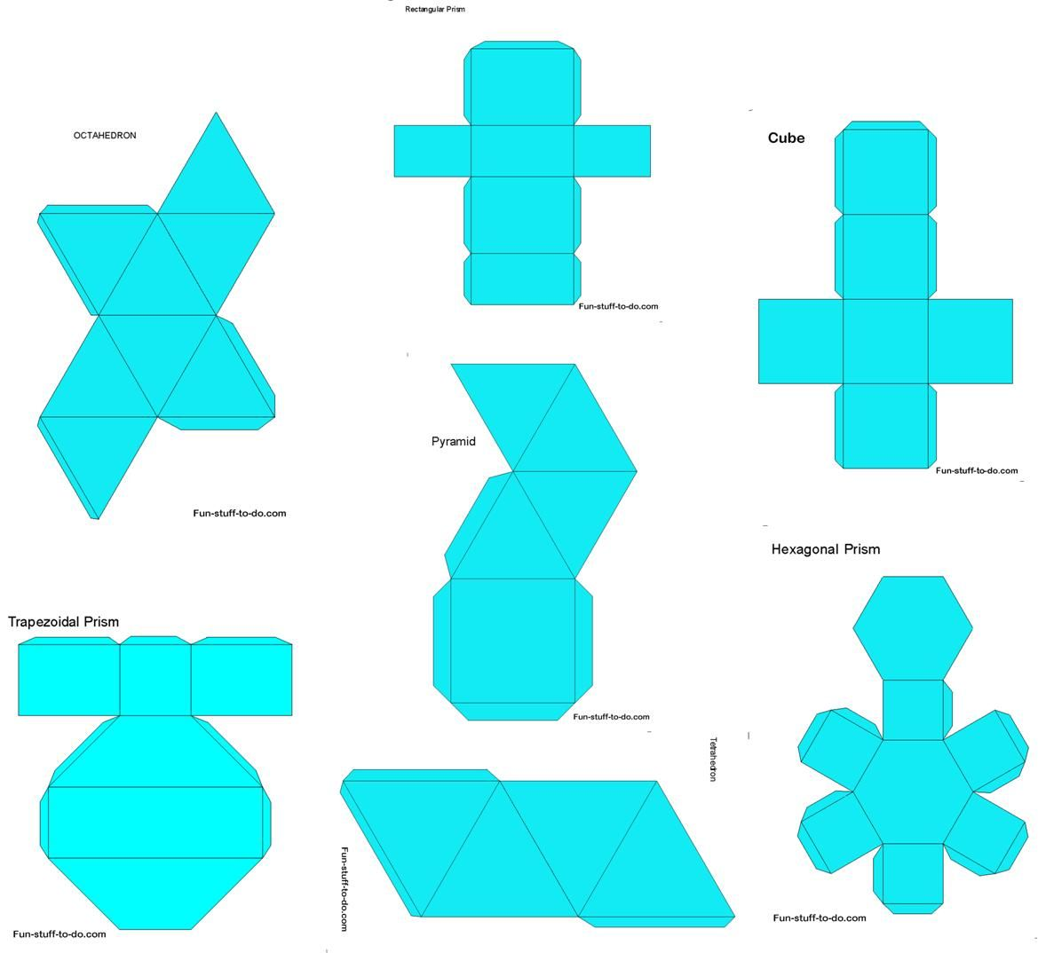 17 Best images about Nets/Templates on Pinterest  3d shapes  printable worksheets, math worksheets, multiplication, education, free worksheets, and worksheets Nets Of 3d Shapes Worksheets 1074 x 1169