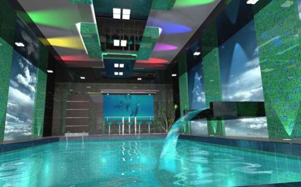 amazing indoor pools design for great house cool indoor pool design with aquatic aquarium - Cool Indoor Pools In Houses