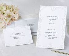 Hearts Wedding Invitation Kits Diy Wedding Invitation Kits Heart Wedding Invitations