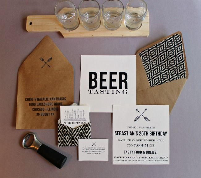 mint love social club manly beer tasting party invitations – Beer Tasting Party Invitations