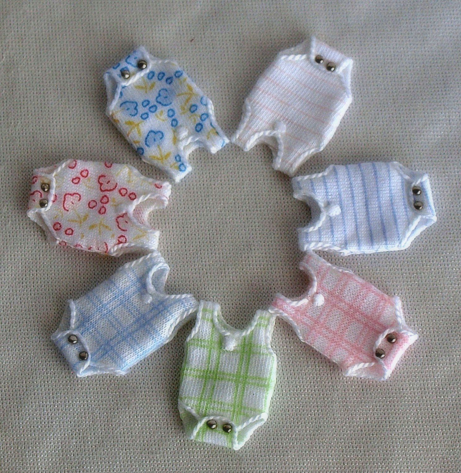 all sorts of miniature doll clothes and miniature items