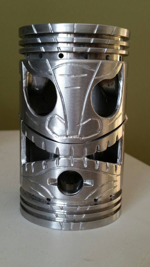 Awesome Scrap Metal Tiki Head Carved From By Tidyecreations Metal Art Welded Scrap Metal Art Metal