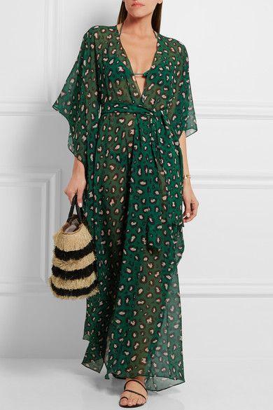 Adriana Degreas | Leopard-print silk-georgette kaftan | NET-A-PORTER.COM