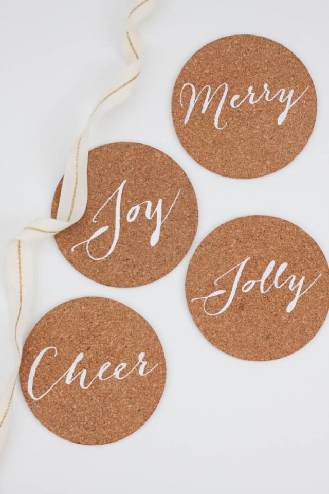 Diy Holiday Cork Coasters Made With The Cricut Explore