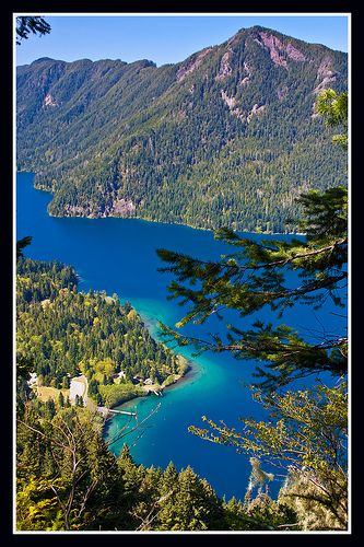 Camping Places To Go : Pyramid Mountain beyond Storm King Ranger Station at Lake  Crescent WA