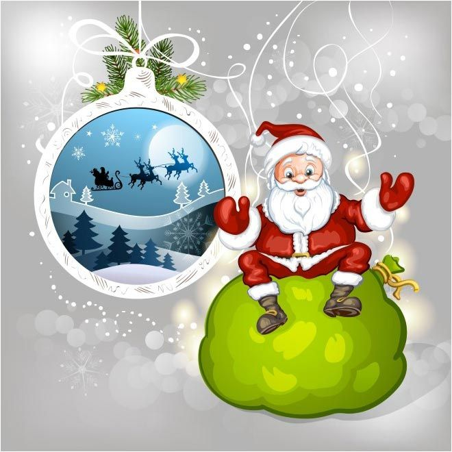 free vector merry christmas santa clause background http www cgvector com