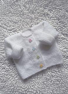 59169b598fa1 Little Flower Garter Stitch Cardigan pattern by Audrey Wilson ...