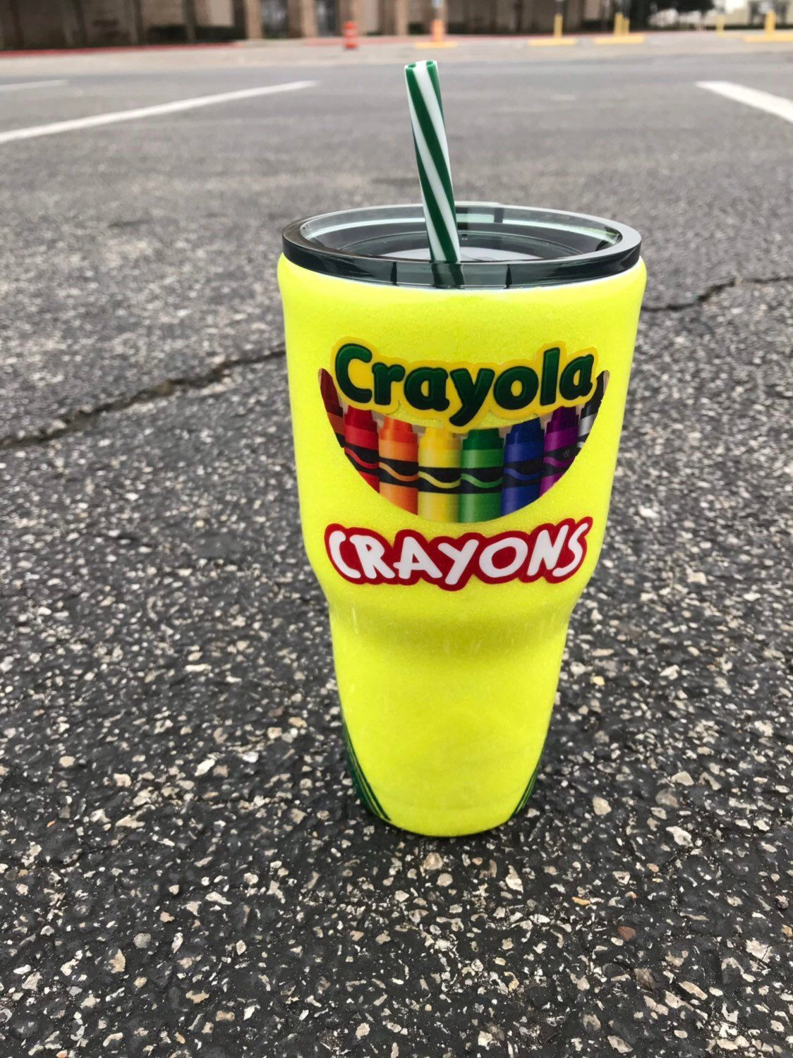Glitter crayola crayons box with name 30 oz tumblers