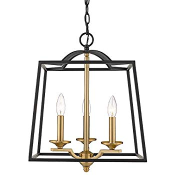 Amazon Com Emliviar 3 Light Foyer Chandelier Pendant Light With