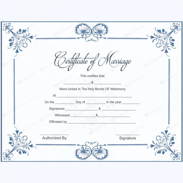 Marriage Certificate Template MarriageCertificate Template