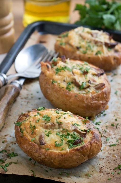 Recetas de otoño fáciles: patatas rellenas de setas