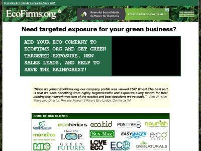 Add Your #Eco-friendly Company to EcoFirmsorg Ebooks, Software