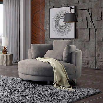 Best Ballard Grey Cuddler Chair Cuddler Chair Chair Comfy 400 x 300
