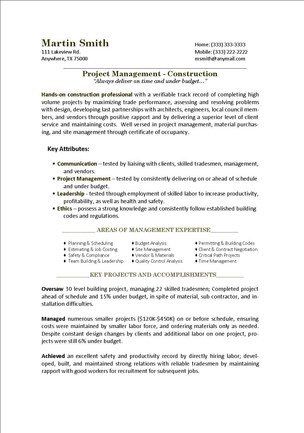 Materials Manager Resume Military To Civilian Resumes  The Vet2Work Job Procurement .