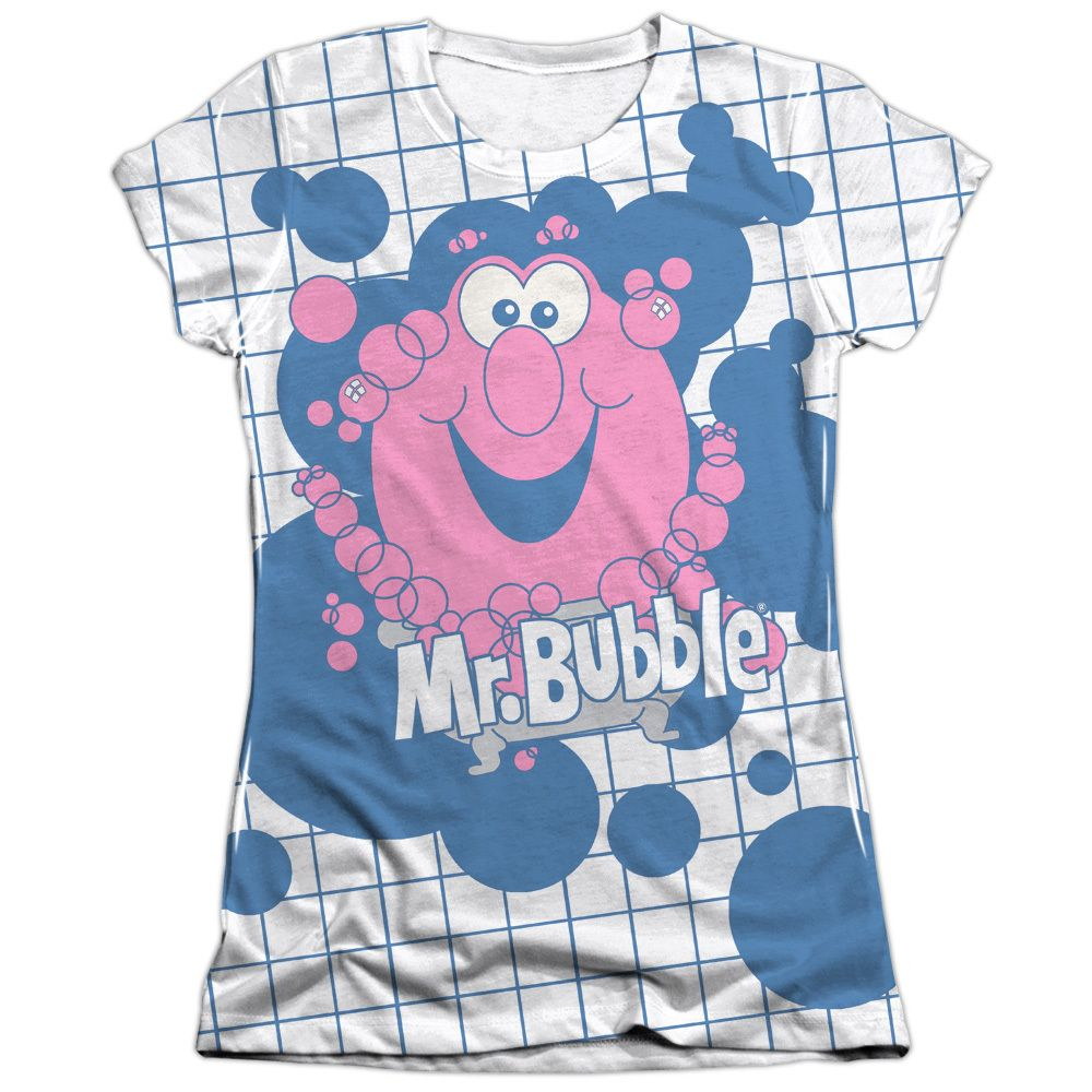 Mr Bubble/Tub Time Short Sleeve Junior Poly/ Crew in, Girl\'s ...