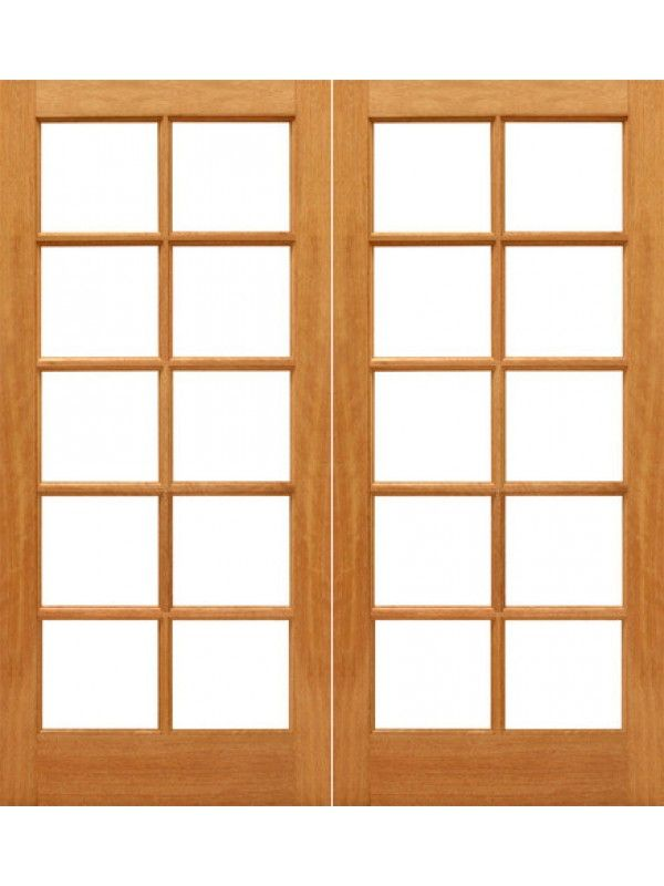 10 Lite French Brazilian Mahogany Ig Glass Double Door French Doors With Sidelights Glass Doors Interior French Doors Patio