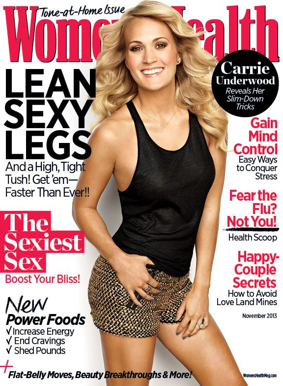 6baba957f46e Carrie Underwood reveals her slim-down tricks in the November 2013 issue of  Women s Health