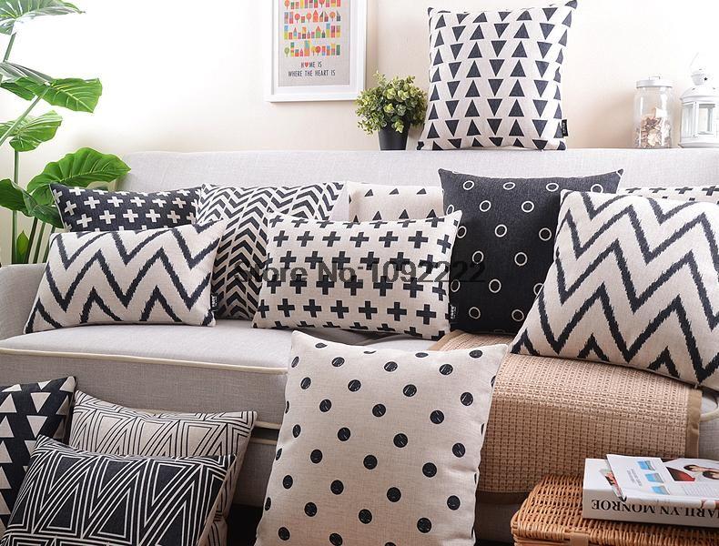 pas cher nordique d coratif coussins couverture oreiller. Black Bedroom Furniture Sets. Home Design Ideas