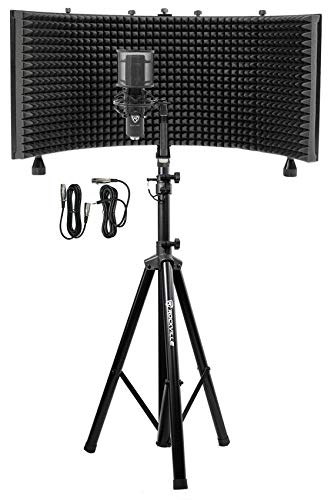 Rockville Pro Recording Studio Microphone Isolation Shield Mount Filter Stand Sale Instrumentstogo Com Recording Studio Microphone Recording Studio Recording Studio Design