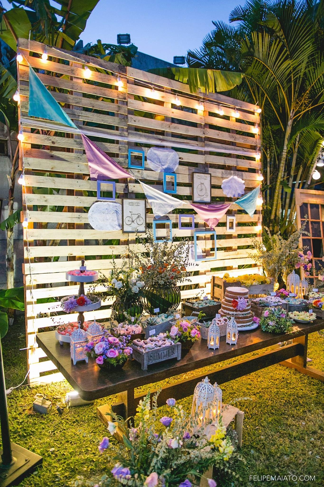 Parede de palets gostei decoraci n wedding - Palets para decoracion ...