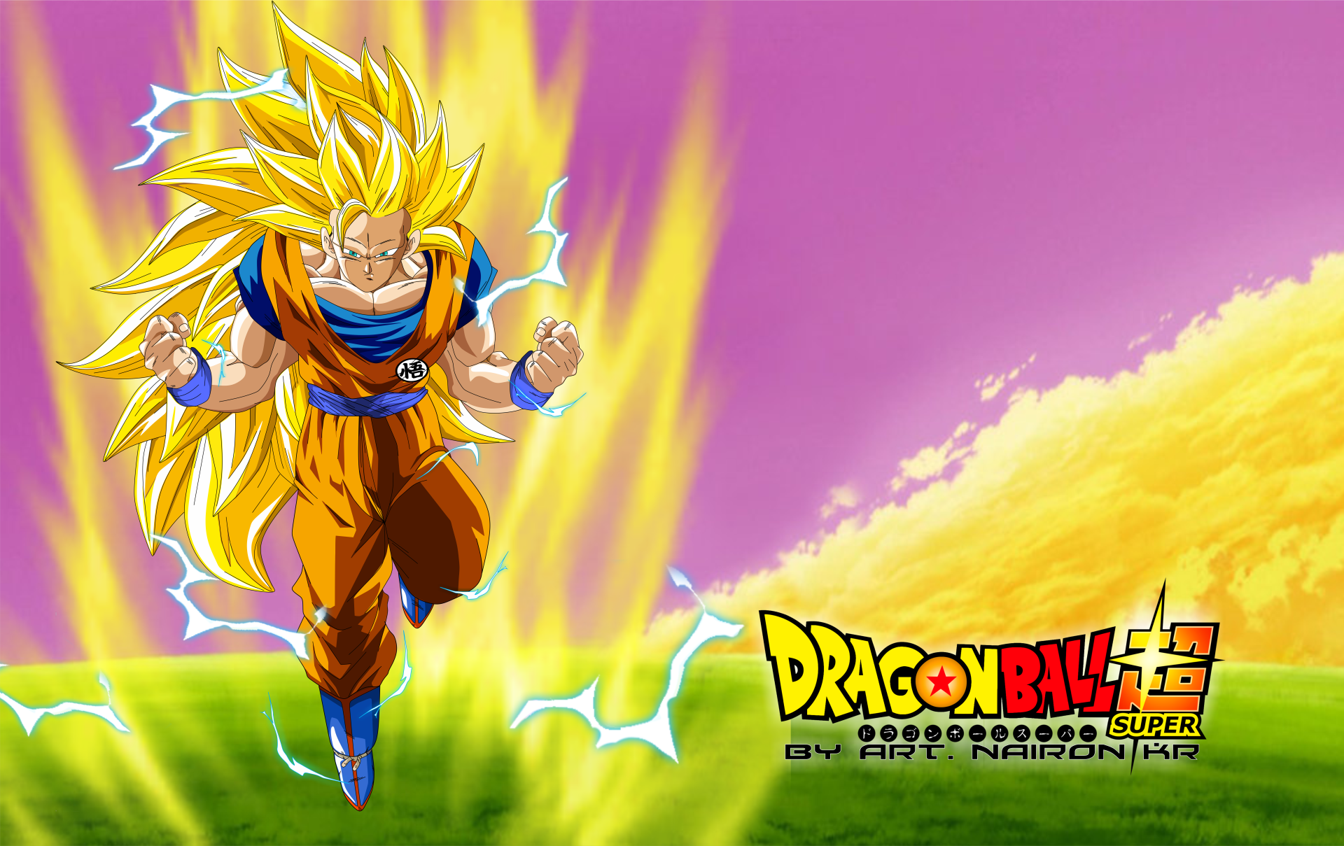 Anime Dragon Ball Super Goku Saiyan 3 Wallpaper
