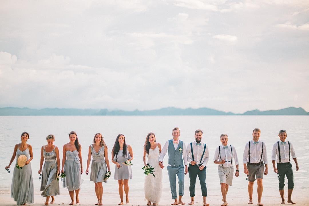 Beach Wedding Entourage