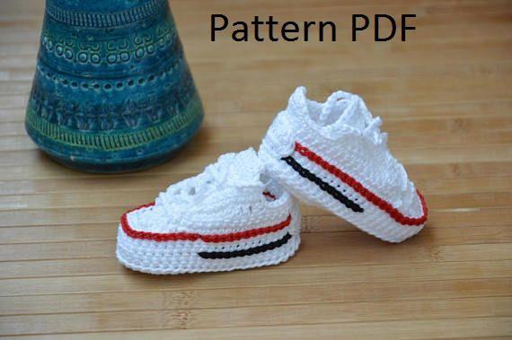 Crochet converse pattern, converse crochet shoes | Zapatos