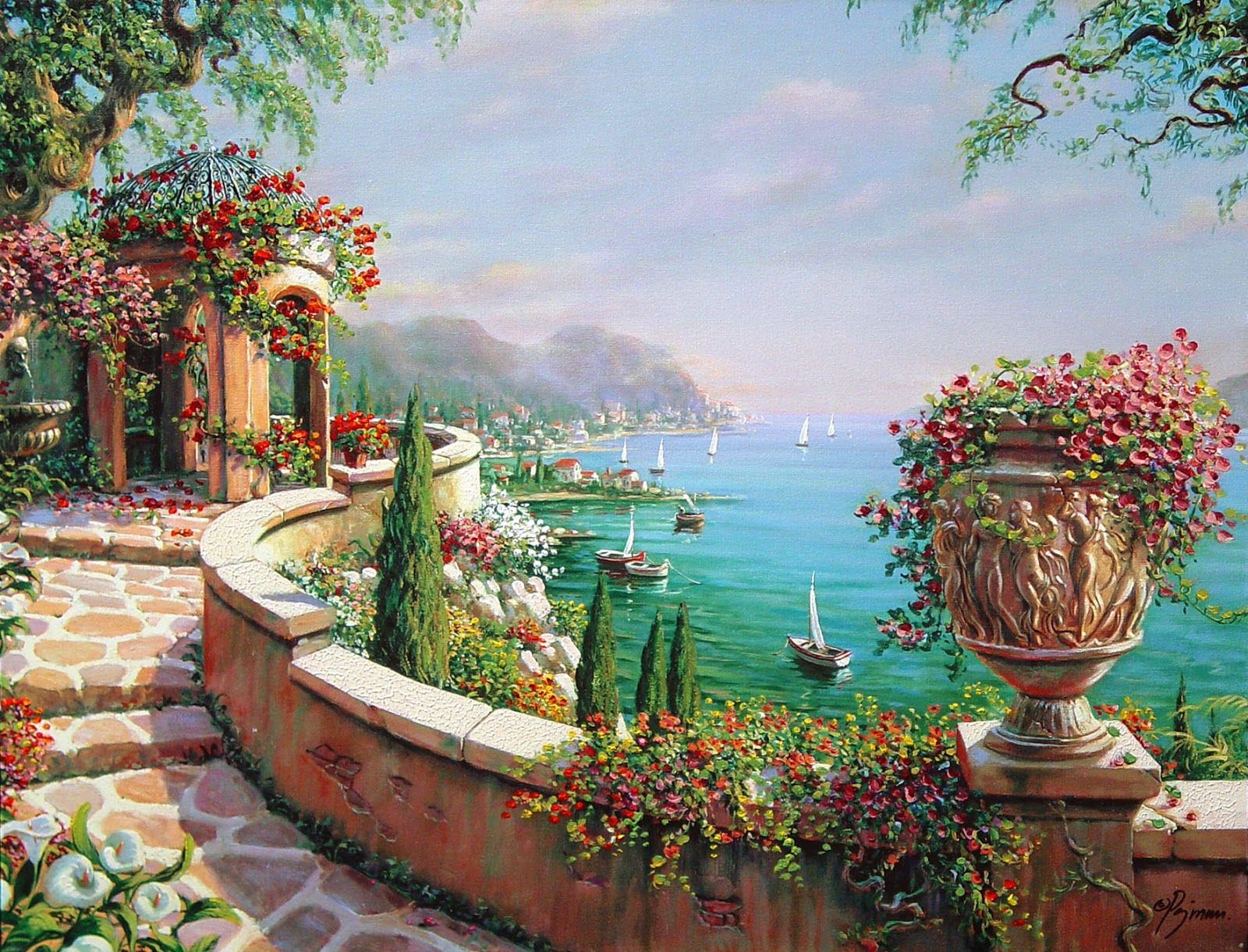 Bob Pejman Seascape Canvas Landscape Pictures Wall Art Canvas Painting