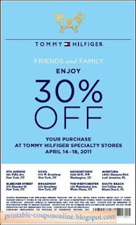 graphic relating to Tommy Hilfiger Outlet Coupon Printable identified as Free of charge Printable Tommy Hilfiger Coupon codes Free of charge Printable