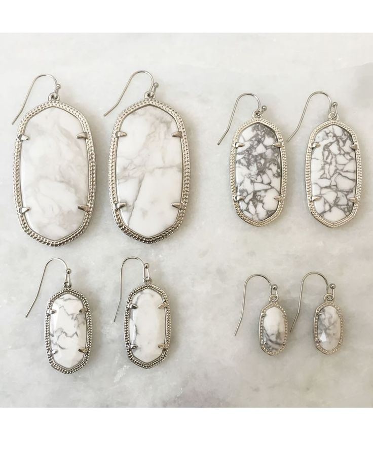 397fadaf8 Elle Earrings in White Howlite - Kendra Scott Jewelry | Accessories ...