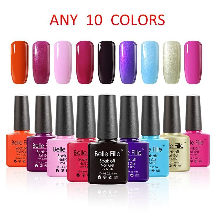 Belle Fille 10 Pcs Fingernail UV Gel Nail Polish Candy Gel Manicure French Varni#BeautyBlog