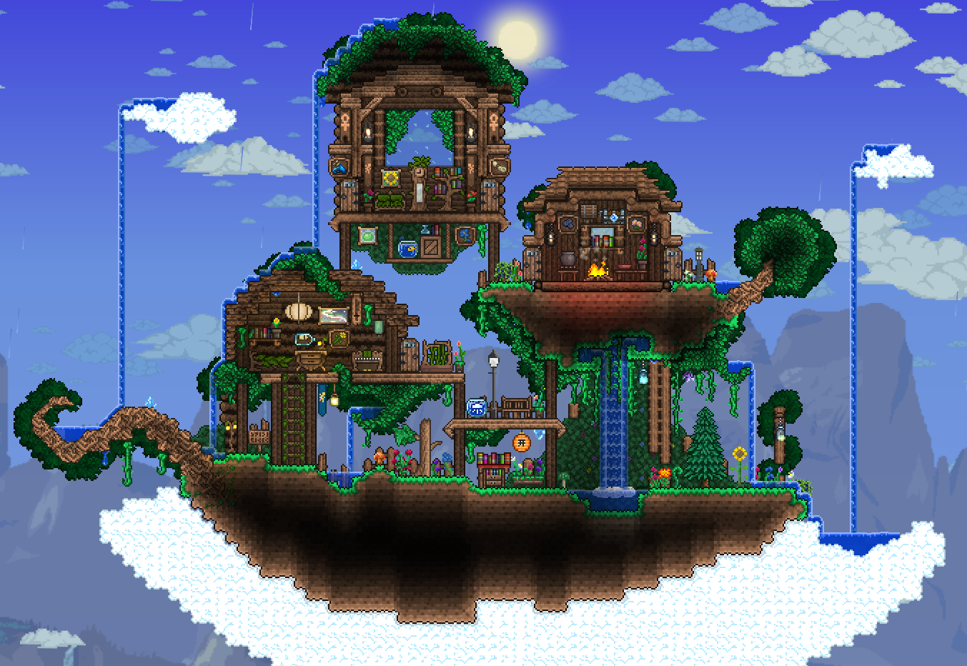 Rainy Floating Island