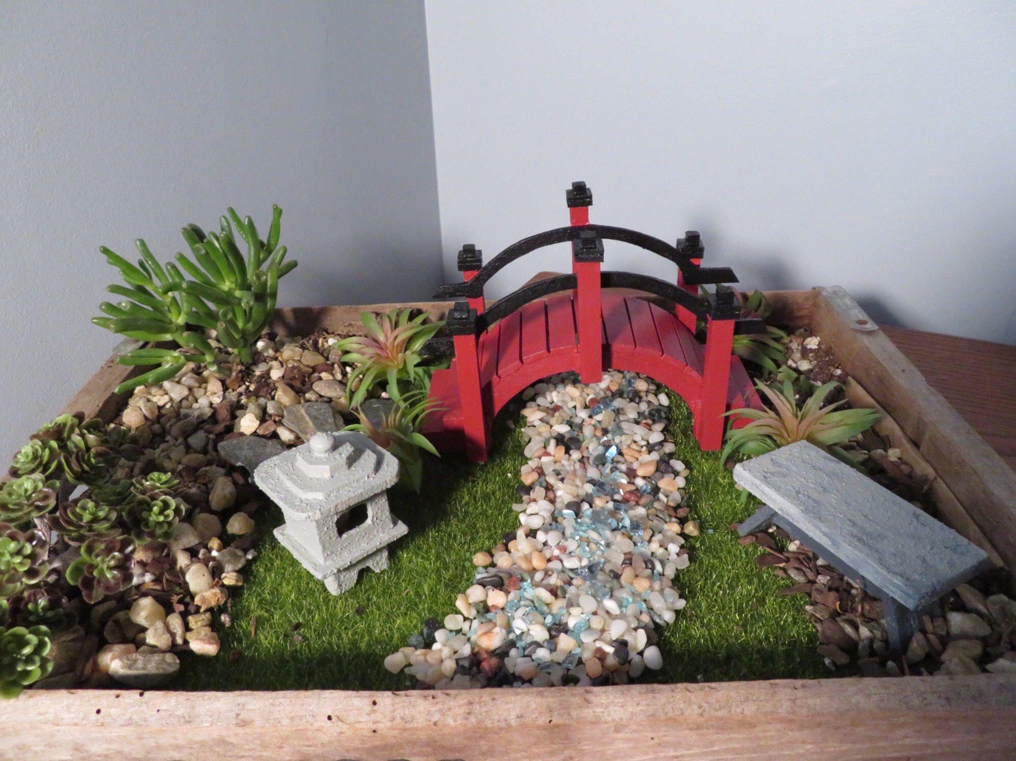 Fairy Garden Miniature Japanese Garden Decor Bridge Pagoda Japanese Garden Miniature Fairy Gardens Japanese Garden Design