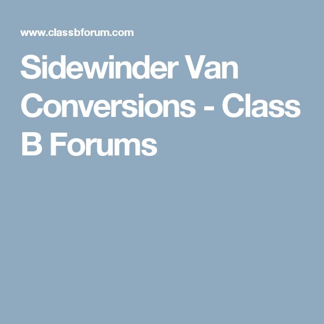 Sidewinder Van Conversions
