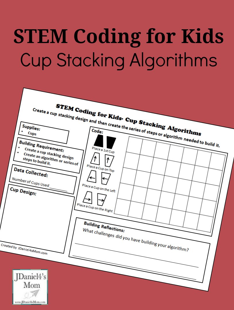 STEM Coding for Kids Cup Stacking Algorithms Your