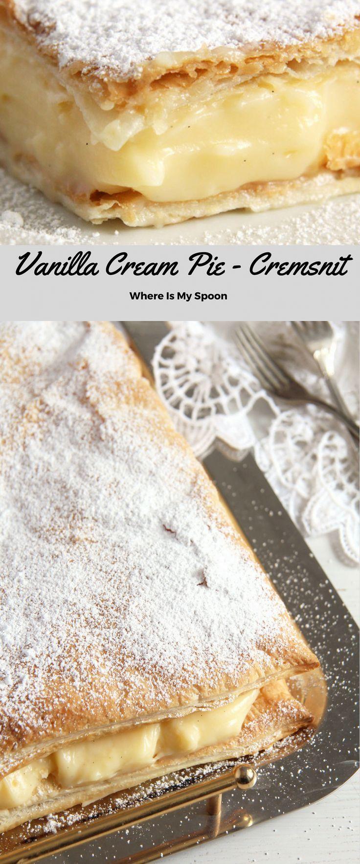 Cremeschnitte - Romanian Vanilla Cream Pie #sweetpie