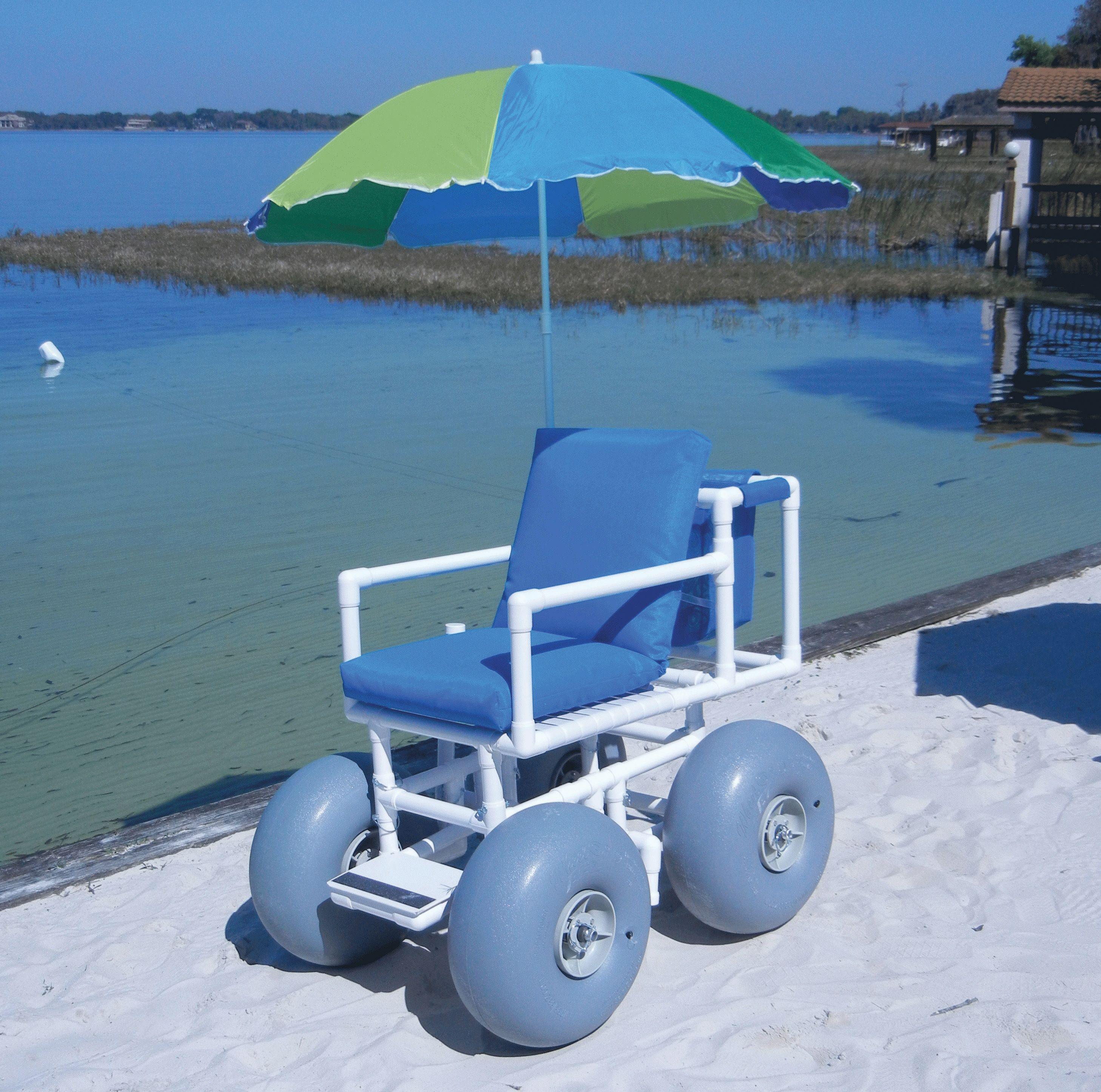 Beach Wheelchair PVC Beach and Boat Access Equipment