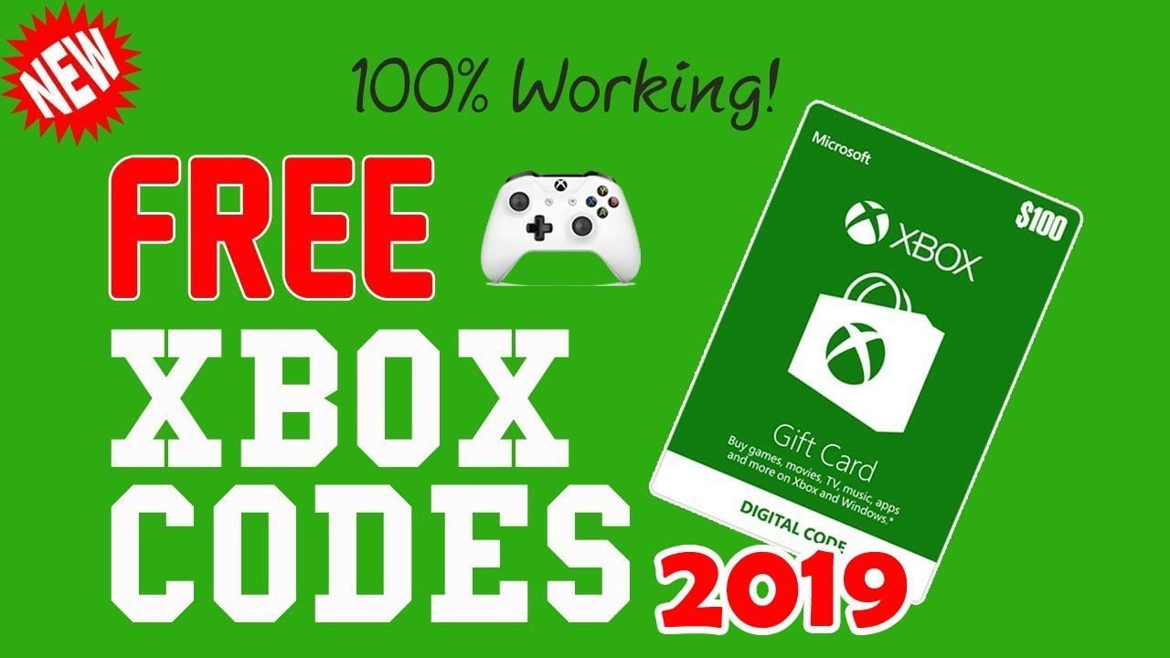 Get free 100 xbox gift card codes 2019 xbox gift card