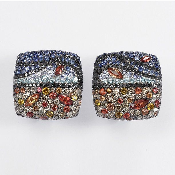 Palmiero Haiku Collection: A tale in a few square centimetres... #palmiero #palmierojewellerydesign #jewellery #jewelry #fourseason #haiku #autumn #collection #sapphire