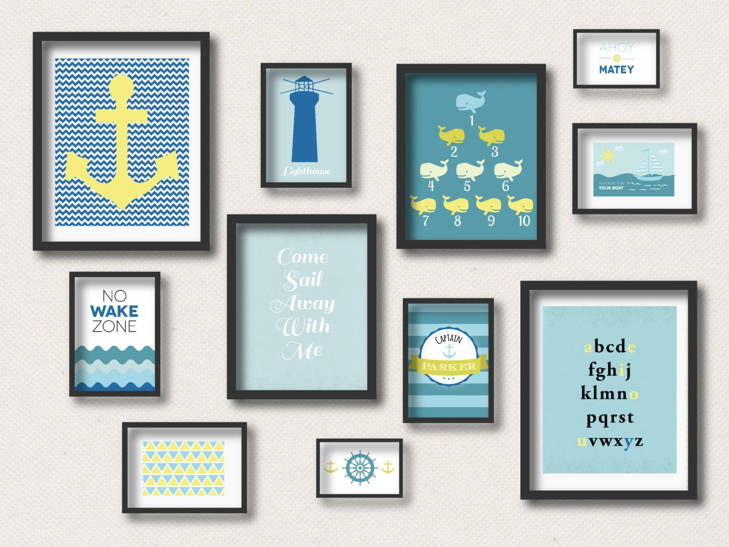 Easy Nursery Gallery Wall. Nautical Kids RoomsNautical Nursery DecorNautical  ...