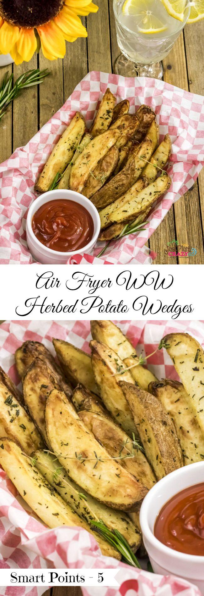 Herbed Air Fryer Potato Wedges Recipe Air fryer